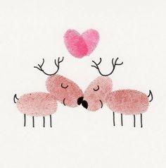 thumbprint reindeer.....