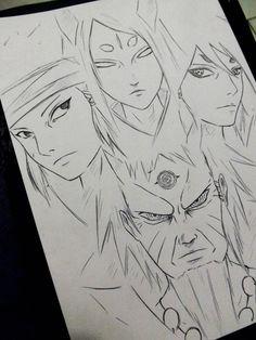 Rikudou Ashura Indra Kaguya xD by DiegoYojiJoji Anime Naruto, Naruto Shippuden Sasuke, Naruto Kakashi, Naruto Art, Manga Anime, Boruto, Gaara, Naruto Sketch Drawing, Naruto Drawings