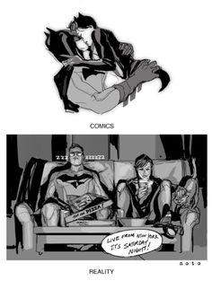 Batman & Catwoman - Comics vs Reality - Art by Phil Noto