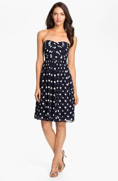 Jenny Yoo Strapless Polka Dot Convertible Chiffon Dress (Online Only) available at #Nordstrom