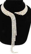 Ab Aurora Borealis Rhinestone Wedding Bridal Choker Clear Crystal Necklace