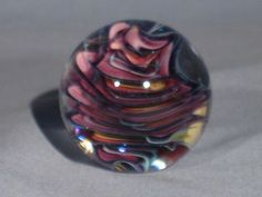 Paperweights Contemporary Art Glass Alloway 2.27inch Dichroic MINI Weldon  #681