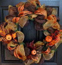 wunderschöner Kranz als Herbstdeko