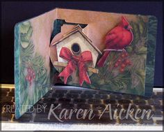 Altered Scrapbooking: Christmas Birdhouse Pop Up Card