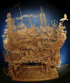 100,000 toothpicks and 35 years later...    hahaha you wouldn't do this yourself, but someone did.