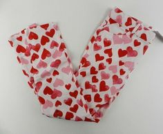 GYMBOREE VALENTINES DAY RED w// WHITE HEARTS A//O LEGGINGS 6 12 18 24 NWT