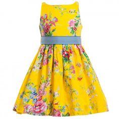 Ralph Lauren - Yellow Floral Cotton Dress | Childrensalon