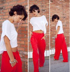 KARLA'S CLOSET - I love love love these red baggy like pants