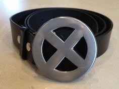 X-MEN logo metal BUCKLE with FREE BELT wolverine rogue cosplay marvel comics NEW