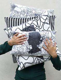 DIY Pillow with silhouette - Kussen met silhouet. Kijk op www.101woonideeen.nl