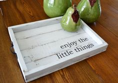 Large Coffee Table Tray Serving Tray by JoaniesFavoriteThing