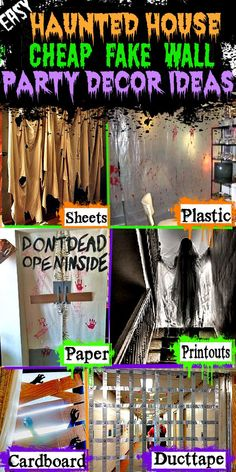 Haunted House For Kids, Scary Haunted House, Haunted House Party, Haunted House Decorations, Diy Haunted House Props, Halloween Haunted Houses, Diy Halloween Decorations, Haunted Garage, Haunted Maze