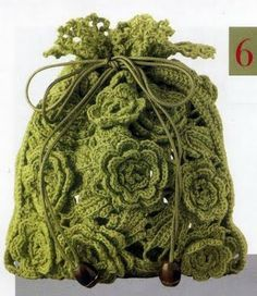 Flower bag crochet diagram
