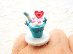 Sundae Ring Miniature Food Jewelry Ice Cream by SouZouCreations, $12.50