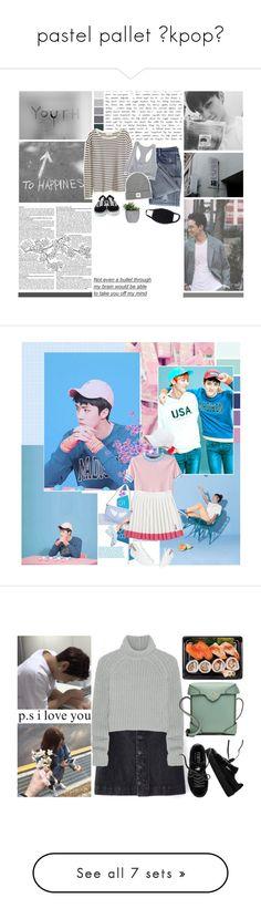 """pastel pallet 《kpop》"" by arabellajjones ❤ liked on Polyvore featuring H&M, Opening Ceremony, Lux-Art Silks, Panacea, Vans, WithChic, Sonia Rykiel, Minna Parikka, ZeroUV and Brooks Brothers"