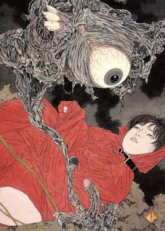 "Takato Yamamoto's artwork is the brilliant, heavy-lidded daughter of illustration, sex and violence. Yamamoto's lush linework and exacting compositions depict young asian women in serene moments studded with darker narrative punchlines. Scenes of bondage and violence bleed slowly into the image as you look longer, yet Yamamoto never depicts any acts of violence--it is either impending or just completed. Yamamoto invented this style called ""Heisei Estheticism,"" meant for fantasy, sensual and…"
