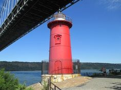 """The Urban Park Rangers bring children to the landmark they know and love from the book """"The Little Red Lighthouse and the Great Gray Bridge"""" by Hildegarde H. Little Red Lighthouse, Park Rangers, Fort Lee, Washington Heights, Manhattan Nyc, Urban Park, Hudson River, George Washington Bridge, Haircuts"""