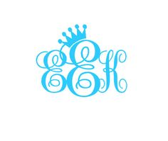 CROWN MONOGRAM VINYL decal by OwlOutfitters on Etsy, $8.00