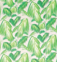 <p><span>A cotton print of stylised palm leaves on a contrasting ground.</span></p>