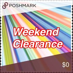 🌈weekend Clearance 🌈 Only this weekend prices dropped on selected items. Always open for reasonable offers. Thank you. Other