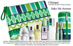 This is really big! 9-piece Clinique gift now at Saks 5th Avenue. FREE with any $45 purchase. http://clinique-bonus.com/other-us-stores/