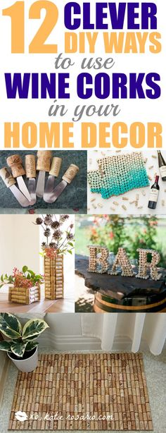 12 Genius DIY Crafts Using Wine Corks XO, Katie Rosario : Where are all my fellow wine lovers at? This is amazing! I love this craft idea. Turn wine corks into awesome DIY crafts, home decor and gift ideas. Perfect for wine l Wine Cork Crafts, Wine Bottle Crafts, Wine Bottles, Wood Crafts, Gifts For Wine Lovers, Wine Gifts, Wine Decor, Do It Yourself Home, Easy Diy Crafts