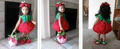 Permission to flaunt the (23 month young) Strawberry ladies and gentlemen...   Band and shoes from Gymboree, Trick or Treat basket from Old ...