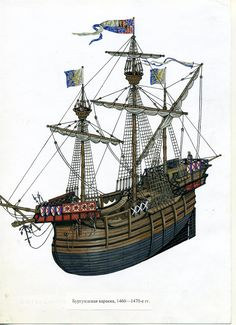 English carrack from the later period of the 15th century