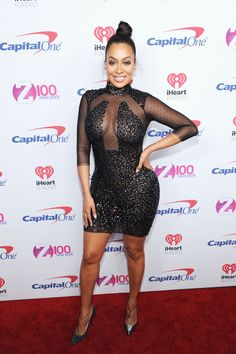 Making the most out of sheer mesh and sparkle at Z100's Jingle Ball 2016