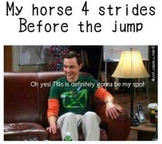 Basically. Haha horse humor and big bang theory, what's not to love.