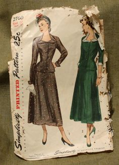 Simplicity 2760 Vintage 1950s Dress Sewing by EleanorMeriwether, $14.00