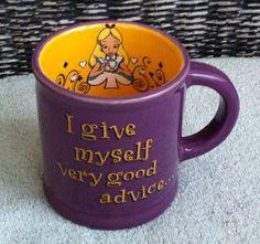Disney Alice in Wonderland Advice Purple Ceramic Mug by Disney Theme Park Merchandise