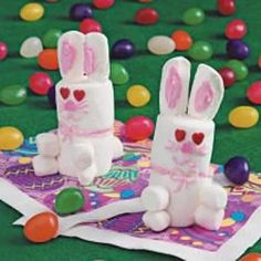 Have some fun with your kids...make marshmallow bunnies.  Instructions @   http://www.chocolate-candy-mall.com/Charmingly_Chocolate-easter-bunny-crafts.html