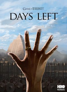 Brilliant 'Game Of Thrones' Posters Countdown To The Start Of The Season - DesignTAXI.com