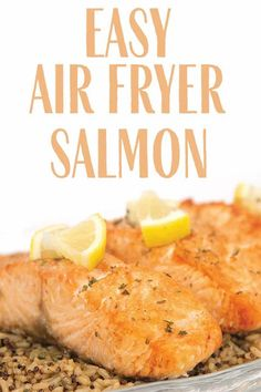 With only 3 ingredients this easy air fryer salmon can be whipped up in 10 minutes for a quick and healthy dinner. #salmon #easysalmon #airfryersalmon #easyairfryerrecipes #easydinnerrecipes #fish #seafood #healthyairfryerrecipes #healthydinner Air Fryer Fish Recipes, Air Fryer Recipes Vegan, Air Fryer Dinner Recipes, Air Fryer Healthy, Easy Fish Recipes, Lunch Recipes, Easy Dinner Recipes, Seafood Recipes, Healthy Recipes