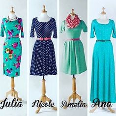 I was trying to decide which style dress was the most flattering, but I love them all!