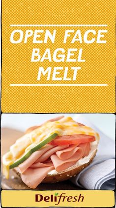 Open Face Bagel Melt recipe. Awesome quick lunch idea and strategies for dealing with toddler temper tantrums! Avoid the meltdowns with this
