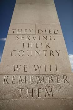We Will Remember Them    A dedication to the dead prior to a Candlelit Vigil to mark the centenary of the First World War, at The National Memorial Arboretum on August 4, 2014 in Stafford.