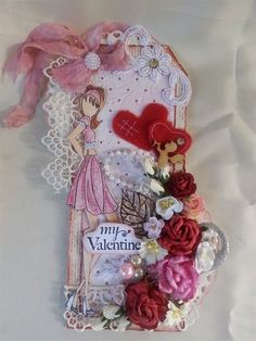 TWAG Rosa Valentine's Day Tag Prima Doll stamp paper piecing scrapbooking cards