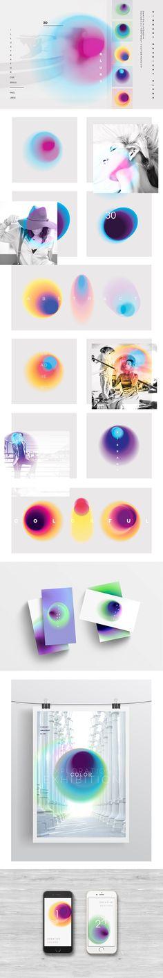 Vibrant gradient blurs - Textures
