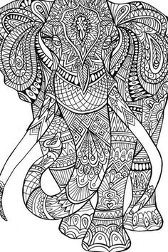 199 Best Elephant Colouring Pages Images On Pinterest In 2019