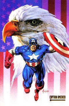 Captain America 1992 Marvel Masterpieces by Joe Jusko