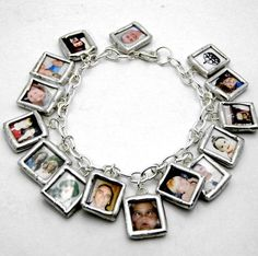 Custom Gl Photo Memory Charm Bracelet Reversible Pictures Charms Great