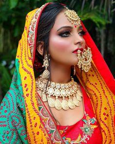 Bridal Makeup Images, Bridal Makeup Looks, Bridal Looks, Photo Makeup, Makeup Art, India Beauty, Asian Beauty, Middle Eastern Makeup, Indian Wedding Makeup