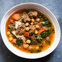 Beef and Chickpea Stew Recipe | Sur La Table Wine Recipes, Beef Recipes, Soup Recipes, Cooking Recipes, Healthy Recipes, Healthy Meals, Healthy Food, Chickpea Soup, Chickpea Recipes