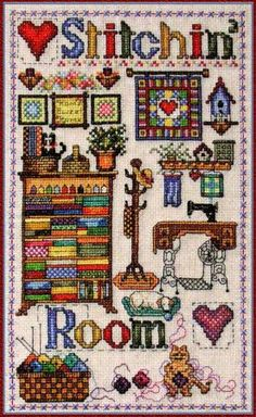 """Stitchin' Room"" by Cross-Point Designs"
