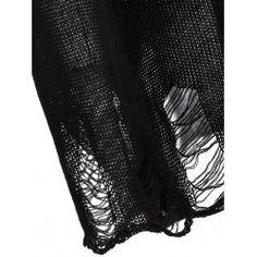 Halloween Frayed Bone Pattern Knitwear | TwinkleDeals.com