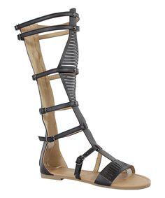 Take a look at this Yoki Black Islana Gladiator Sandal today!