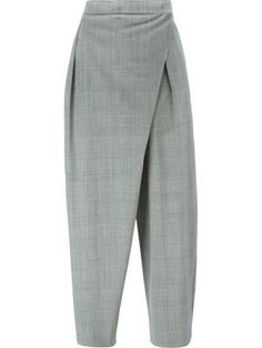 cropped cross front trousers
