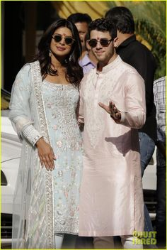 : Photo Nick Jonas and Priyanka Chopra are ready for their wedding - and they're leading up to the big day with a week packed full of festivities with their friends and… Indian Wedding Outfits, Indian Outfits, Indian Clothes, Wedding Dresses, Beautiful Bollywood Actress, Most Beautiful Indian Actress, Priyanka Chopra Wedding, Nick Jonas, Indian Designer Wear